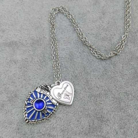 Antique Style Proud Police Mom, Sister and Daughter Necklace - FREE +SHIPPING!