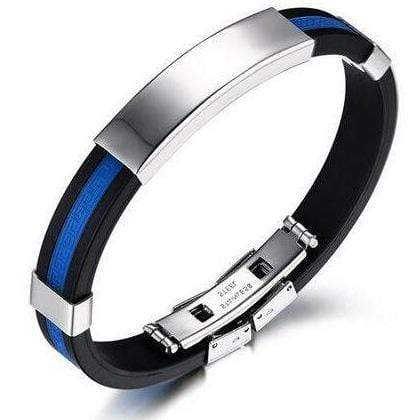 Image of Blue Line Stainless Steel Bracelet