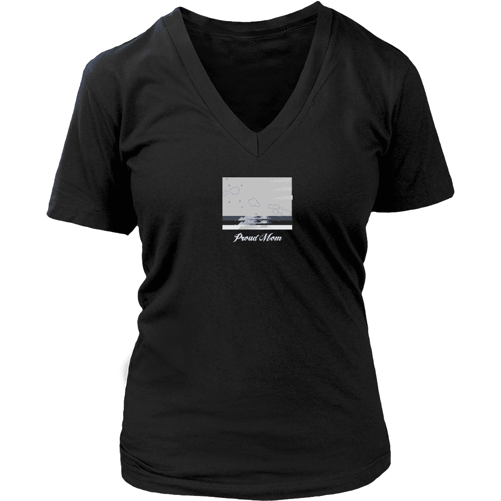 District Womens V-Neck Hawaii
