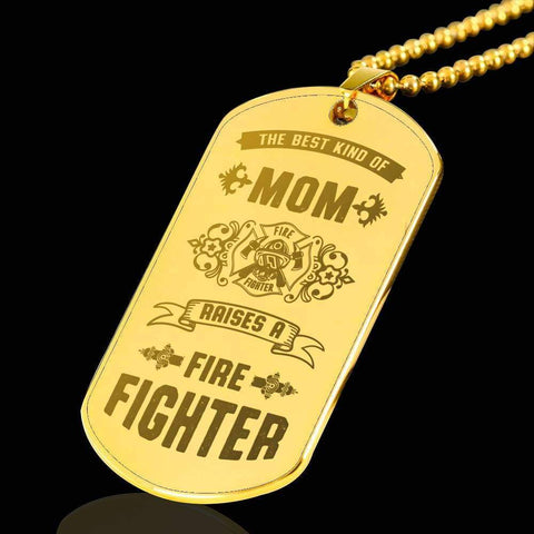 18k Gold Plated Best Kind of Mom Raises a Firefighter Necklace