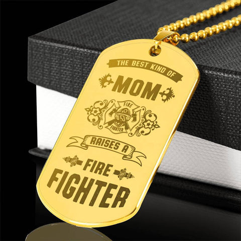Image of 18k Gold Plated Best Kind of Mom Raises a Firefighter Necklace