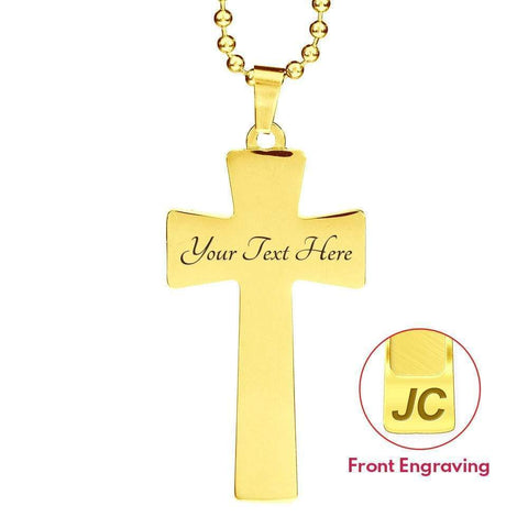 I'm a Proud U.S Military - Military Mom Ball Chain Cross