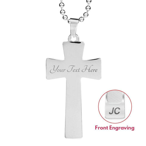I'm a Proud U.S Military - Military Wife Ball Chain Cross