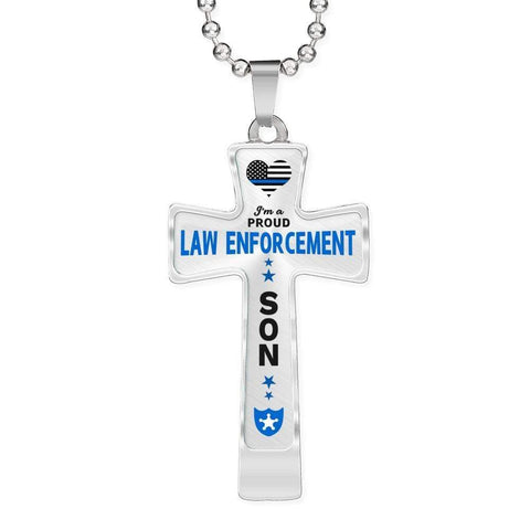 Image of I'm a Proud Law Enforcement - Police Son Cross