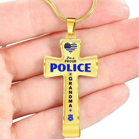 Image of I'm a Proud Police - Police Grandma Cross