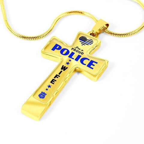 I'm a Proud Police - Police Wife Cross