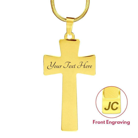 Image of I'm a Proud Firefighter Wife Cross - Light Luxury Necklace