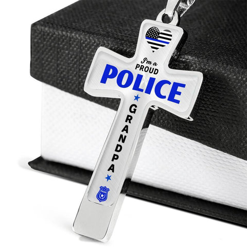 Image of I'm a Proud Police - Police Grandpa Cross