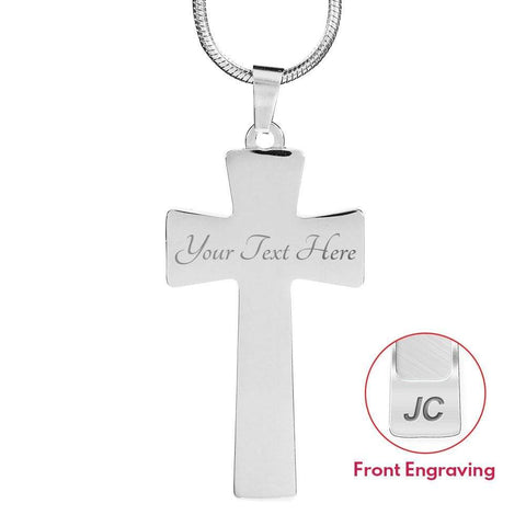 Image of I'm a Proud EMT Girlfriend Cross - Luxury Necklace