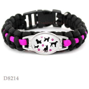 Paracord Survival Bracelet Love Dog