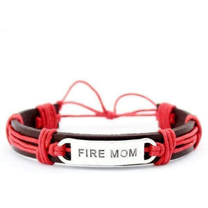Police & Fire - Mom & Wife - Adjustable Leather Bracelet