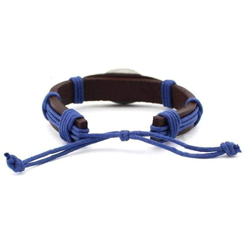 Image of Proud Blue Line Family - Adjustable Leather Bracelet - FREE + SHIPPING!