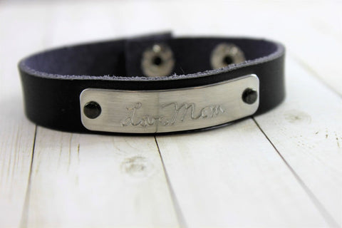 Image of Handwriting Leather Bracelet