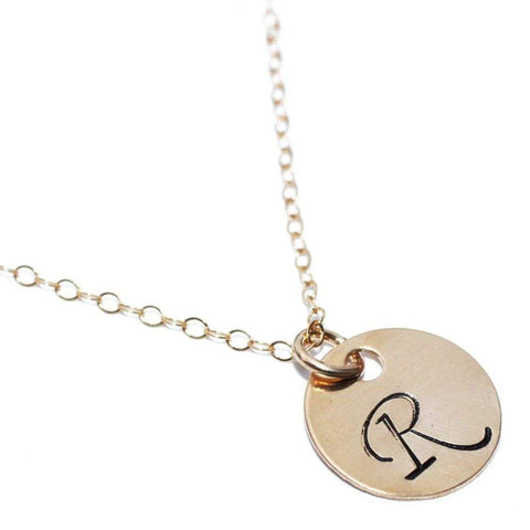 Initial 14K Gold Filled Necklace