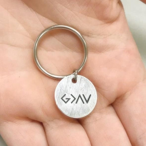 Image of God is Greater than the Highs and Lows Key Chain