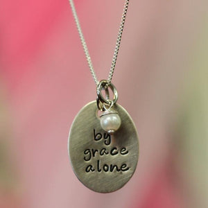 By Grace Alone Charm Necklace