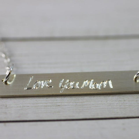 Image of Custom Handwriting Bar Necklace