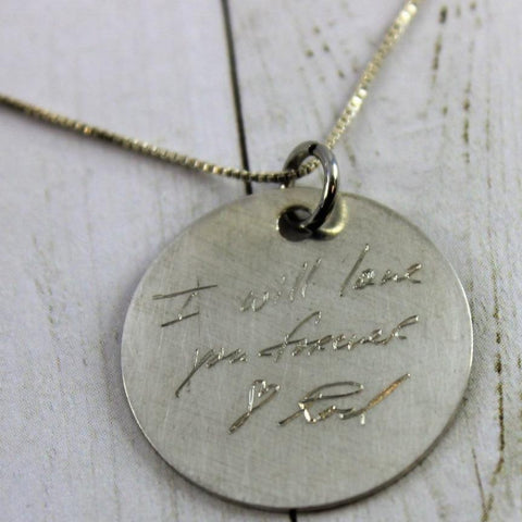 Image of Handwriting Necklace