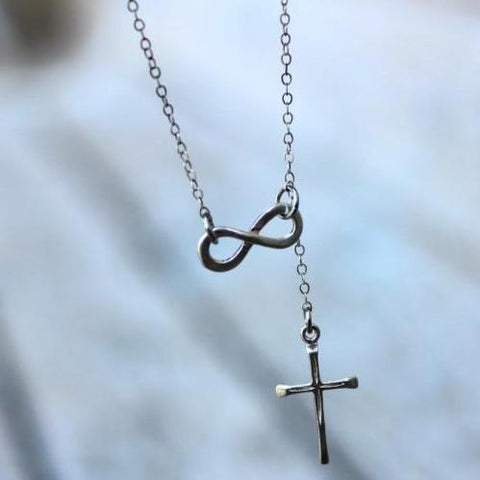 Image of Infinity and Cross Necklace