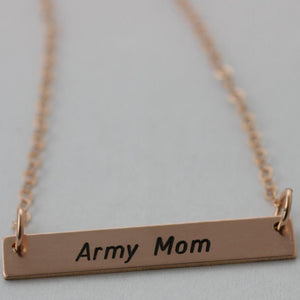 Personalized Military Bar Necklace