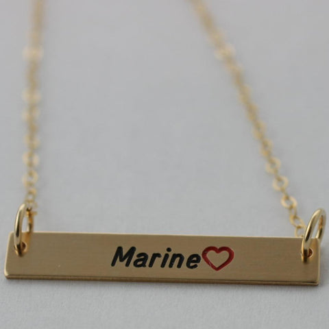 Image of Personalized Military Bar Necklace