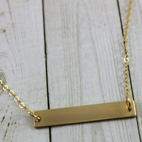Image of Personalized Bar Necklace