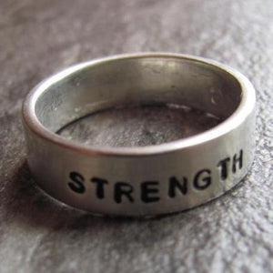 Personalized Handstamped Ring