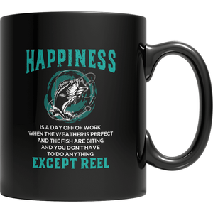 Happiness is reel Fishing inspired Mugs