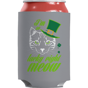 St. Patricks Day 2018 – Im so lucky right meow - Koozie St. Patricks Day Can Wrap