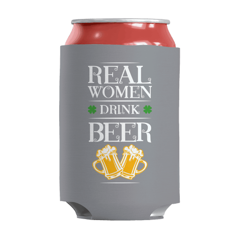 Image of St. Patricks Day 2018 – Real Women Drink Beer - Koozie St. Patricks Day Can Wrap