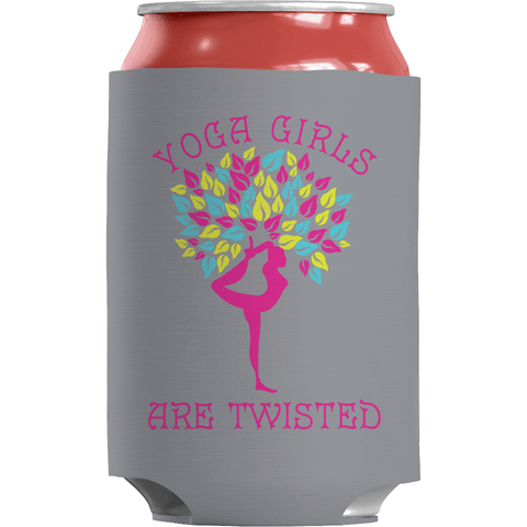 Image of Yoga Girls Are Twisted - Koozie Yoga Can Wrap