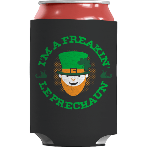 Image of St. Patricks Day 2018 – Im a Freakin Leprechaun - Koozie St. Patricks Day Can Wrap