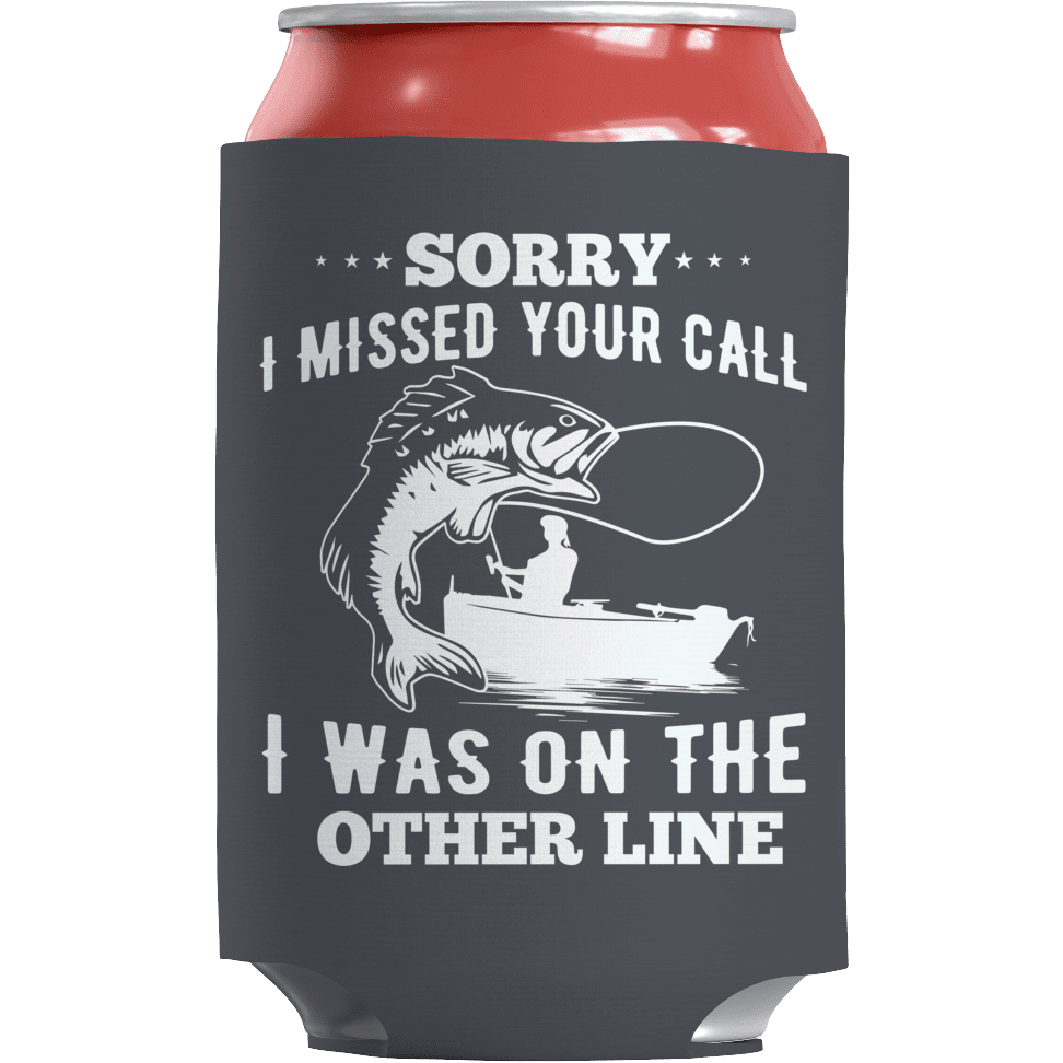 On The Other Line - Koozie Fishing Can Wrap