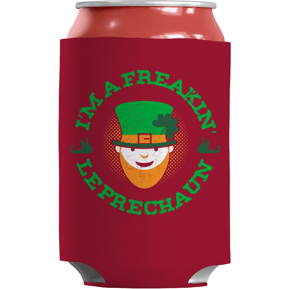 St. Patricks Day 2018 – Im a Freakin Leprechaun - Koozie St. Patricks Day Can Wrap