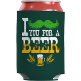 St. Patricks Day 2018 – I Mustache You For A Beer - Koozie St. Patricks Day Can Wrap