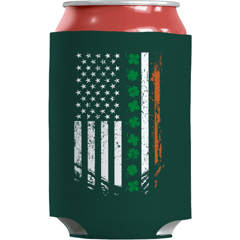 Image of St. Patricks Day 2018 – IRISH American - Koozie St. Patricks Day Can Wrap