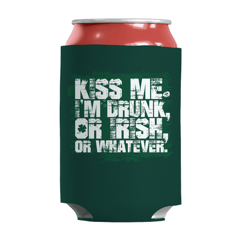 Image of St. Patricks Day 2018 – Kiss Me Im Irish or Drunk or Whatever - Koozie St. Patricks Day Can Wrap