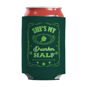 St. Patricks Day 2018 – Shes My Drunker Half - Koozie St. Patricks Day Can Wrap