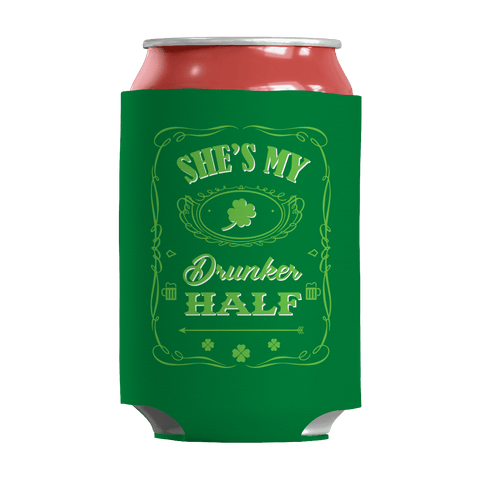 Image of St. Patricks Day 2018 – Shes My Drunker Half - Koozie St. Patricks Day Can Wrap