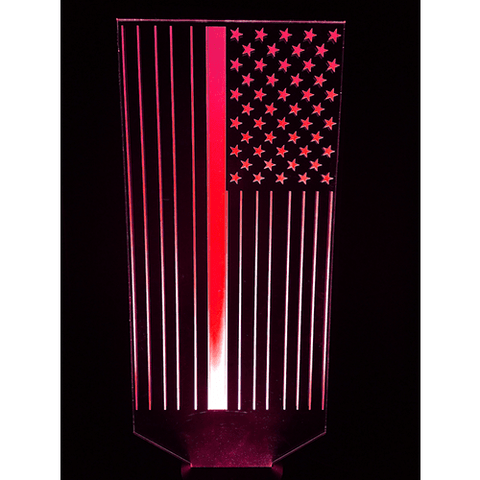 Blue Line Flag LED Lamp - Back the Blue Line - Proud Patriot