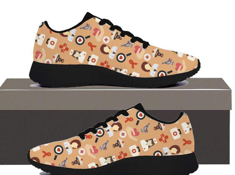 Image of Nurse Pattern - Women Sneakers