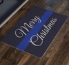 Thin Blue Line Holiday Welcome Mats