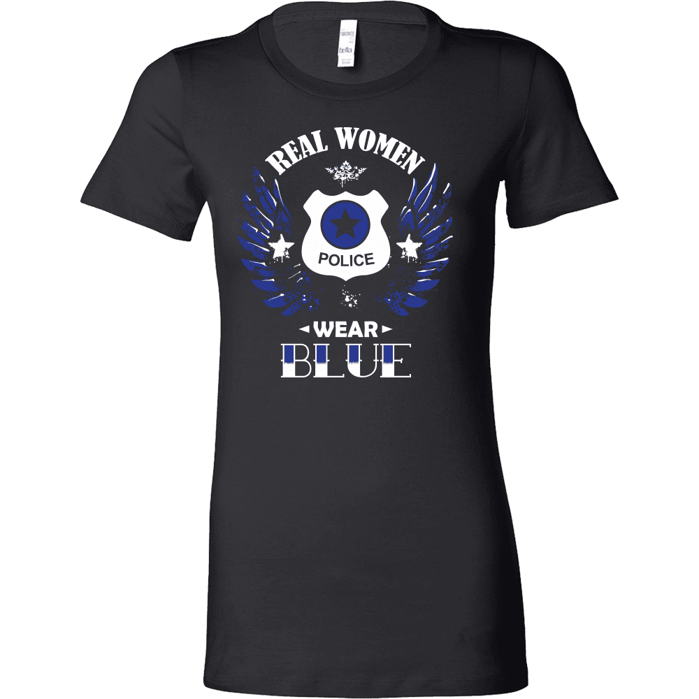 Guarding Wings - Real Women Wear Blue Tanks and Shirts