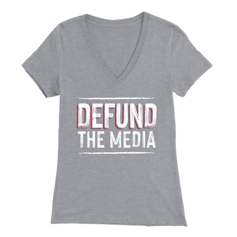 Image of Defund the Media Womens V-Neck