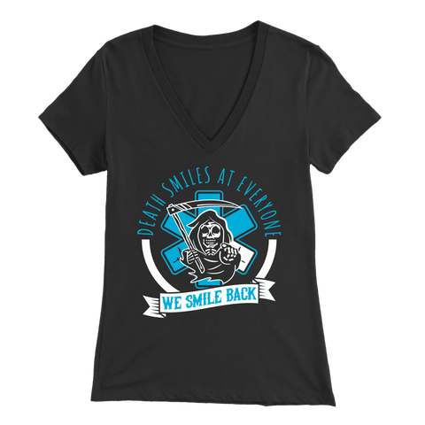 Death Smiles At Everyone - Soft Bella Womens V-Neck