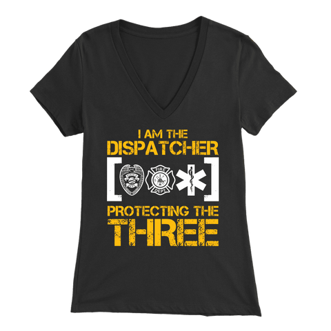 I Am a 911 Dispatcher One of The Most Important People You Will Never See - Soft Bella Womens V-Neck