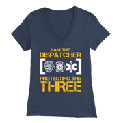 Image of I Am a 911 Dispatcher One of The Most Important People You Will Never See - Soft Bella Womens V-Neck