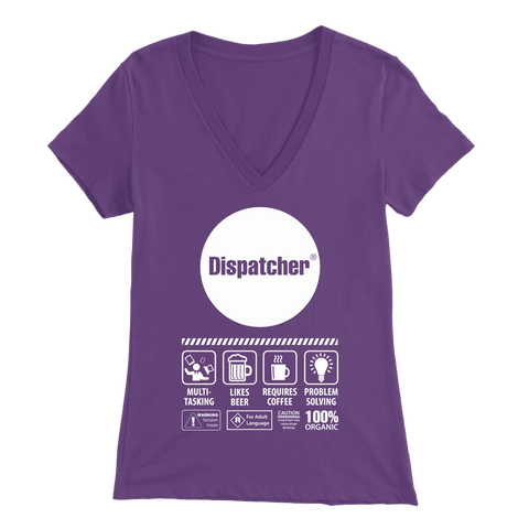 Multi-Tasking Dispatcher - Soft Bella Womens V-Neck
