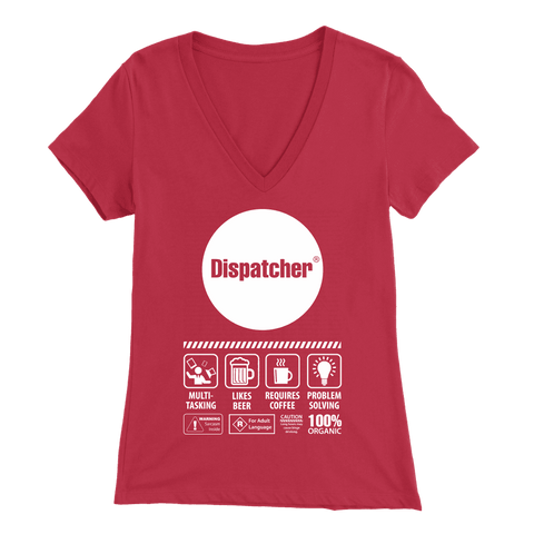 I Am The Dispatcher Protecting the Three - Soft Bella Womens V-Neck