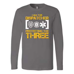 I am The Dispatcher Protecting the Three - Soft Canvas Long Sleeve Shirt